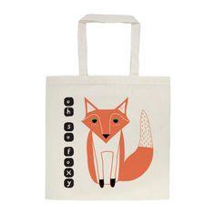 Oh So Foxy Tote Bag por Artibonita en Etsy