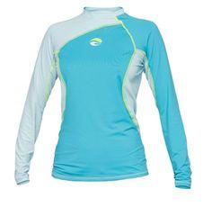 Rash Guards 114256: Bare Womens Long Sleeve Watershirt Rash Guard 50+ Spf Uv Protection Blue Xl -> BUY IT NOW ONLY: $34.95 on eBay!