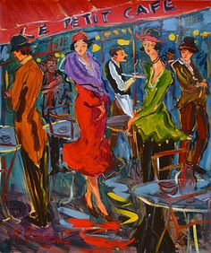 French Art Network | Clauzade Paintings - LE PETIT CAFE