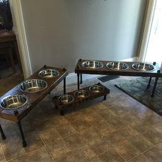 dog pet raised elevated c wood feeding reclaimed il feeder stands barn etsy feeders supplies custom