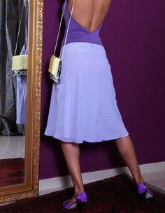 Pretty in violet! http://www.condiva.com/products/1650/condiva-skirts #skirt #pretty #tango #tangodance #dance #danceclothes #retro #fitted #flared #milonga #milonguera #condiva #tanguera #argentinetango #handmade #unique #conDiva