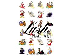 It's Halloween Disney's Donald Duck & Family Nail Art Water Transfer Decal - Waterslide Paper - Water Slide Paper