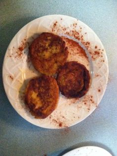 Danielle Dombek's tatale (spicy ripe plantain pancakes) on June 11, 2014.