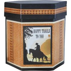 Fireside Home - FBW-105 Boxes - Hexagon Exl - Western Happy Trails Box (http://www.firesidehome.ca/fbw-105-boxes-hexagon-exl-western-happy-trails-box/) #home #decor #gift #nestedbox #western #westerndecor #homeaccent