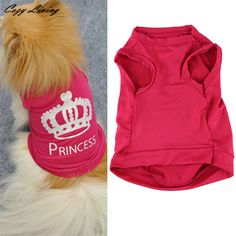 Clothes For Small Dog XS-L Cute Princess T-shirt Clothes //Price: $6.30 & FREE Shipping //     #Funnygifts