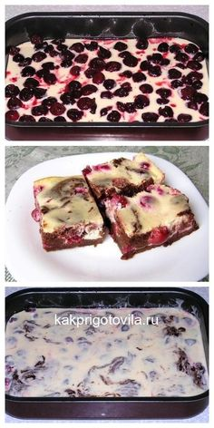 Brownie with cottage cheese and cherries goes higher than … – Essen und trinken – Foil Pack Recipes Foil Pack Meals, Pastry Shop, Russian Recipes, Dessert Recipes, Desserts, No Bake Cake, Sugar Cookies, Food Porn, Food And Drink