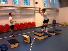 Mozgáskoordináció fejlesztő gyakorlatok - Zsámoly-diner ugróiskola labdával (páros láb) - YouTube