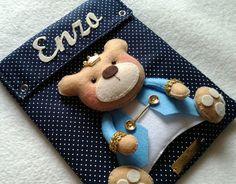 Capa Caderneta Vacinação Urso Príncipe   Cintia Maria Fofuras em Feltro   Elo7