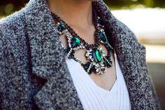 .Clean Cut Diamond Necklace