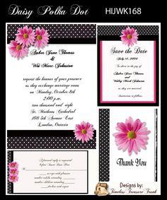Gerber Daisy Wedding Invitation