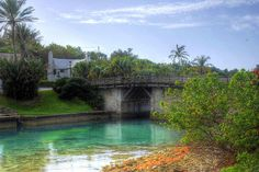 The world's smallest drawbridge; Somerset, Bermuda