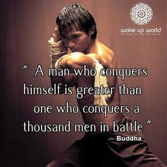 To conquer onself is greater.