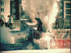"""Skateboarding and...explosions? From the Lakai's """"Fully Flared""""."""