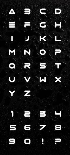 ALPHABET  My custom made font by LEX NAU