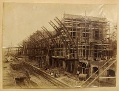 The wealth of coffee production allowed São Paulo to import a complete train station (bricks included!) from the UK. Estação da Luz train station under construction in 1899.