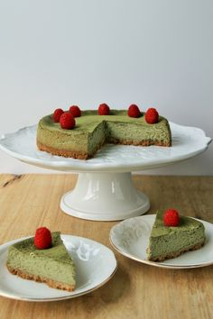 Baked Matcha Cheesecake | The Lost Girls Collective