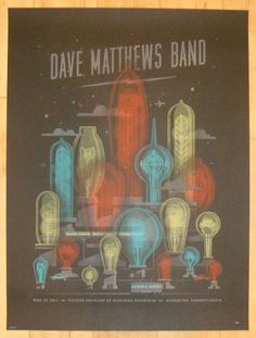 2013 Dave Matthews Band - Scranton Concert Poster by DKNG