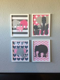 A personal favorite from my Etsy shop https://www.etsy.com/listing/267649008/elephant-nursery-baby-girl-decor-framed