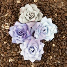 Kindled- Beryl - Flowers - Embellishments - Browse by Product - CHA Winter 2015 - What's New - Shop Products - Store Paper Mulberry, Cherry On Top, Colored Paper, New Shop, Craft Items, Paper Flowers, Kindle, Embellishments, Craft Projects