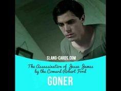 """""""Goner"""" is someone who has died or is going to die soon.  Usage in a movie (""""The Assassination of Jesse James by the Coward Robert Ford""""):  - He's still sucking air. But l think he's a goner.  #slang #saying #sayings #phrase #phrases #expression #expressions #english #englishlanguage #learnenglish #studyenglish #language #vocabulary #dictionary #grammar #efl #esl #tesl #tefl #toefl #ielts #toeic #englishlearning #goner #died #theassassinationofjessejamesbythecowardrobertford"""