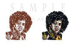 Jimi Hendrix.Digital download.Art Portrait. by AszArt on Etsy