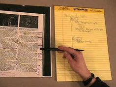 Creating Cornell Notes (@Youtube)