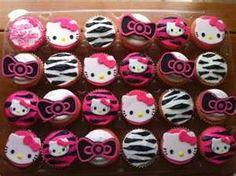 Sassy Hello Kitty cupcakes. An idea for Rylee's birthday