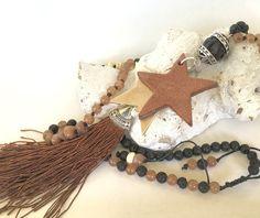 Ketten lang - lange Kette, Lederstern, Quaste - ein Designerstück von moanda bei DaWanda
