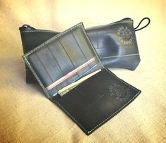 Eco Friendly Wallet Gift Set made from Recycled Bike Tube by MoabBagCompany, $34.00