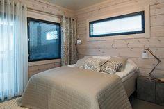16 Villa Merengue - Makuuhuone @ Loma-asuntomessut Kalajoella Finland, Villa, Interiors, Bed, Furniture, Home Decor, Merengue, Decoration Home, Stream Bed
