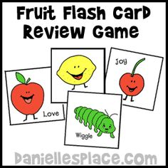 Fruit of the Spirit Bible Review Game - Fruit Flash Card Game from www.daniellesplace.com
