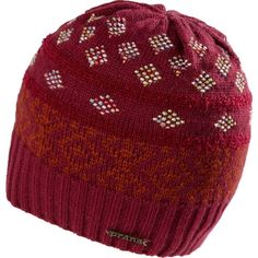 6240d7531bf The unlined prAna Laurena Beanie has a long classic fit and familiar winter  patterns.