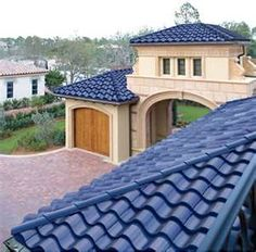 These roof tiles are solar panels