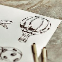 Time to plan next holiday ! #travel #drawing #balloon #illustration #inking