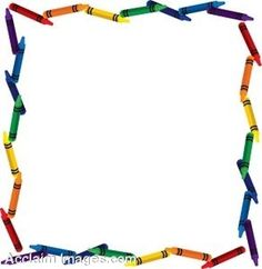 Clip Art of a page border made up of crayons. Clipart illustration by Rosie Piter exclusively for Acclaim Images. Free Frames And Borders, Borders For Paper, Classroom Clipart, School Clipart, Free Preschool, Preschool Printables, Childcare Decor, Page Boarders, Preschool Certificates