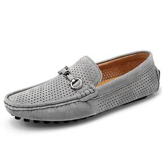 Men's Winter Cowhide Leather Casual Fleece Loafers Business Breathable Flat Shoes Slippers For Driving