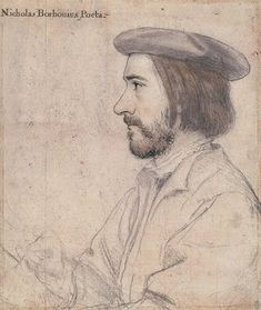 A sketch by Holbein of the humanist and reformer Nicholas Bourbon.