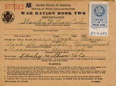 War ration stamp book