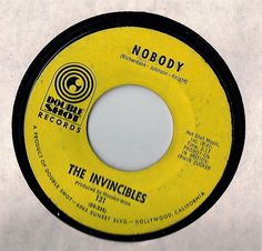 The Invincibles 45-SWEET NORTHERN FUNK SOUL~Nobody/Keep On Trying~DOUBLE SHOT~VG #Northern