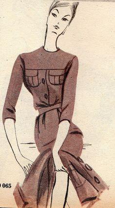 1960 L'écho de la mode illustration