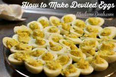 How to Make Deviled Eggs http://madamedeals.com/how-to-make-deviled-eggs/ #recipes #inspireothers