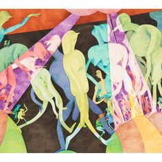 Gladys Nilsson, Being Beamed, 1984, watercolor on paper. COURTESY THE ARTIST AND GARTH GREENAN GALLERY, NEW YORK