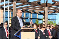 El alcalde de Fuenlabrada, Manuel Robles, en la celebración del Día de Europa 2013