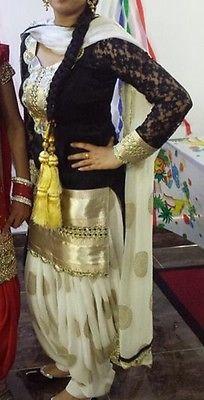 see on newsvillas : Bollywood Designer Patiala Punjabi Indian Work Salwar kameez Wedding Suit Indian Salwar Suit, Punjabi Salwar Suits, Punjabi Dress, Patiala Suit, Indian Suits, Pakistani Dresses, Indian Dresses, Anarkali Suits, Indian Wear
