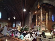 Family Liturgy with our second grade students. First Holy Communion was on May 13 the 100 year Anniversary of Fatima.