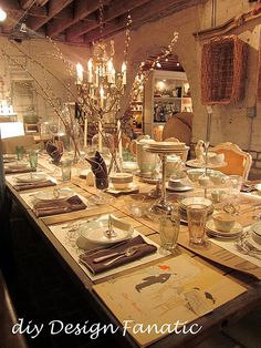 Simple Elegance dinner party idea