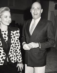 With her husband, Reinaldo Herrera at the opening of The Palladium.   - TownandCountryMag.com