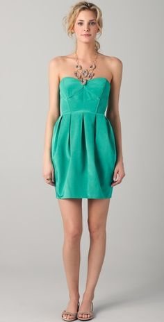 Love this color... perfect (guest) wedding attire!