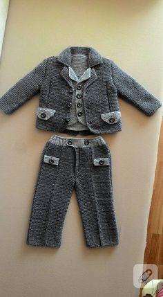 Örgü erkek bebek takımları – 10marifet.org