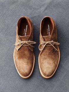 Brown Suede Chukka Boots, by Antonio Maurizi. Men's fashion.